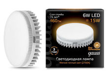 Лампа Gauss LED GX53 5W 2700K