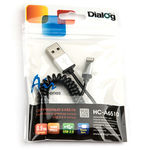 Кабель Dialog HC-A6510 Apple 8pin(M)-USB A(M) 0,9м спиральный